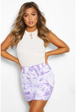 Lilac Tie Dye Mini Skirt