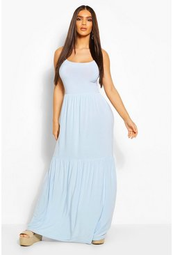 Sky Tiered Strappy Maxi Dress