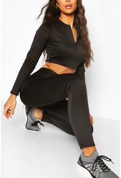 Black Fit Basic Neoprene Sports Legging