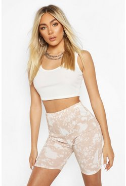 Rib Tie Dye Cycle Shorts, Sand