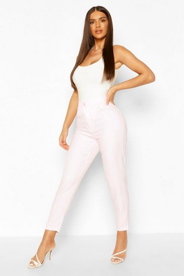 Lilac Pastel Stripe Slim Fit Trousers