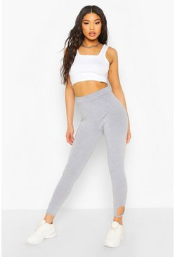 Grey marl Cut Out Ankle Legging