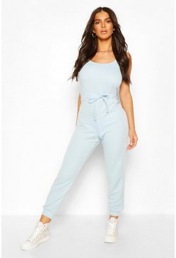 Pale blue 2 in 1 Cami Top & Jogger Jumpsuit