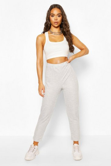 Grey High Waist Skinny Leg Jogger