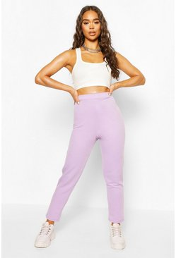 High-waist Skinny Jogginghosen, Flieder