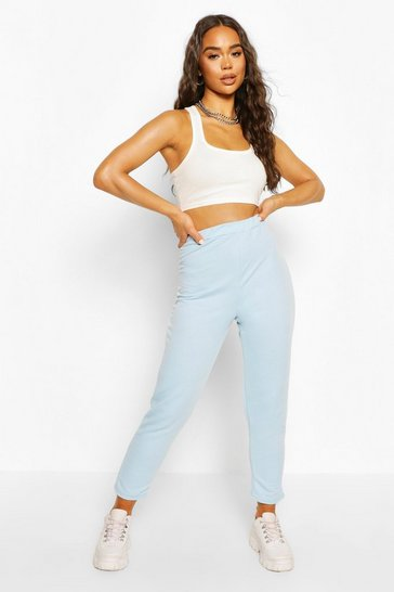 Pale blue High Waist Skinny Leg Jogger
