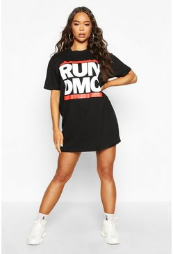Black Run DMC License T-shirt Dress