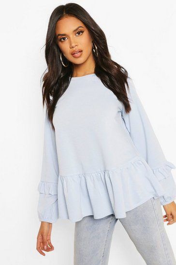 Celestial blue Smock Sweat Top