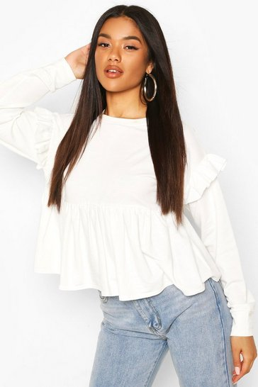 Ivory Smock Sweat Top