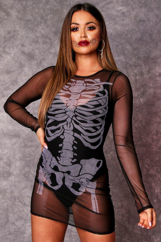 womens mesh dress - black - 6