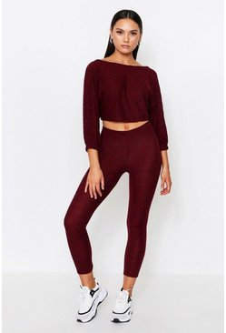 Wine Twist Back Rib Lounge Set