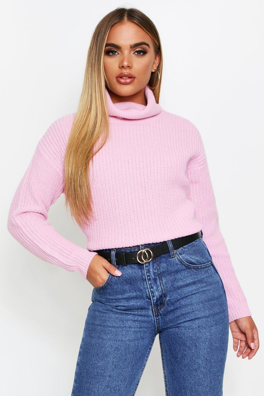 Vintage Sweaters, Retro Sweaters & Cardigan Ladies Womens Fisherman Roll Neck Sweater - Blue - L $8.00 AT vintagedancer.com