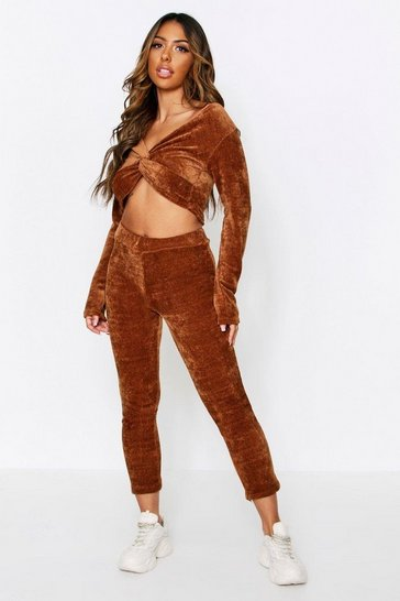 Camel Soft Touch Knitted Jumper + Trouser Set