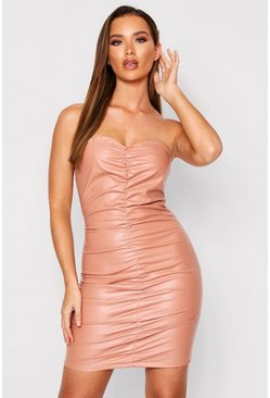 Blush Ruched Bodycon Dress