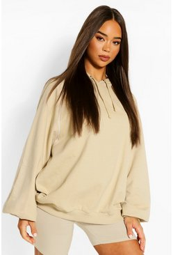 Stone Piping Detail Oversized Hoody