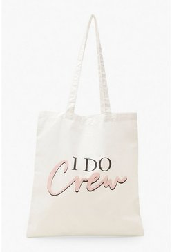 White I Do Crew Tote Bag
