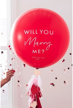 Red Ginger Ray Will You Marry Me Balloon Kit