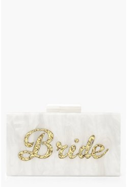 Premium Bride Box Clutch mit Kette, Gold