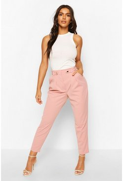 Rose Tailored Crepe Carrot Leg Trouser