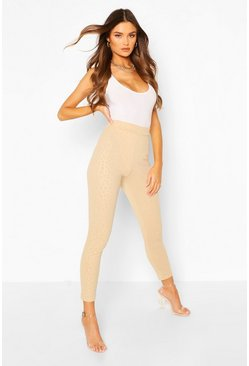 Camel Embossed Animal Legging