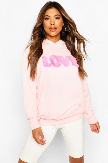 Pink Fur 'Love' Hoody
