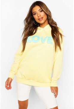 Yellow Fur 'Love' Hoody