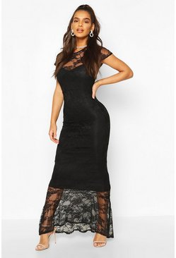 Black Full Lace Maxi Dress