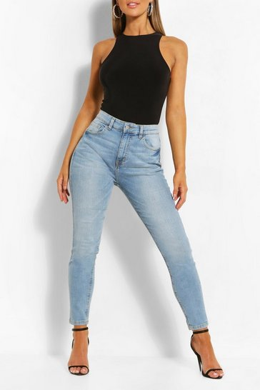 Light blue Mid Rise Butt Shaper Skinny Jean