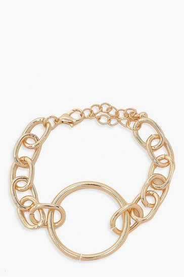 Gold Ring & Chain Bracelet