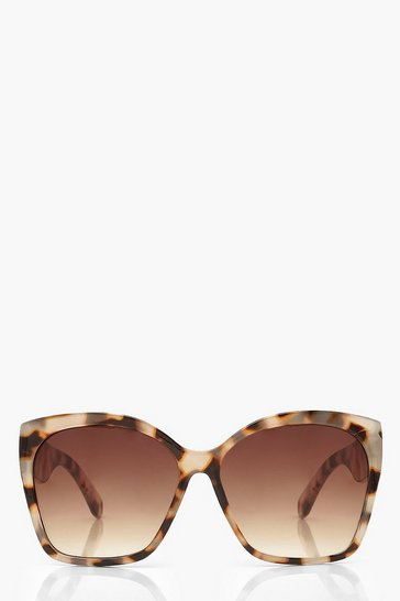 Cream Oversized Tortoise Shell Sunglasses