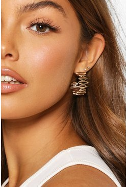 Gold Abstract Hoops