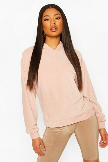 Blush Oversized Premium Velour Hoody