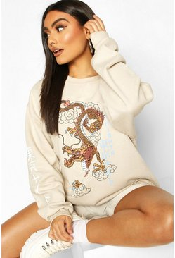 Sand Dragon Print Oversized Sweat
