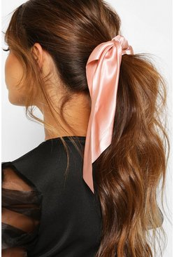 Blush Satin & Scarf Hair Tie