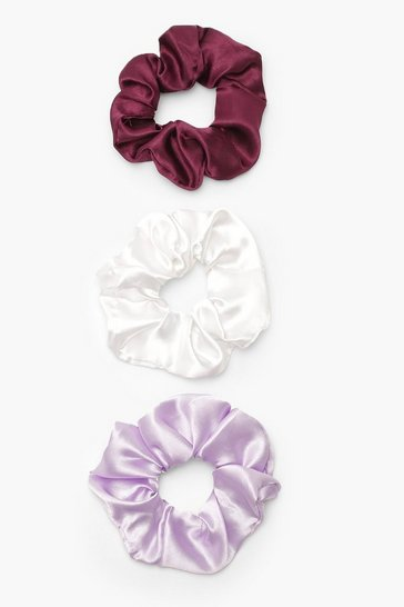 Multi Satin Scrunchie 3 Pack