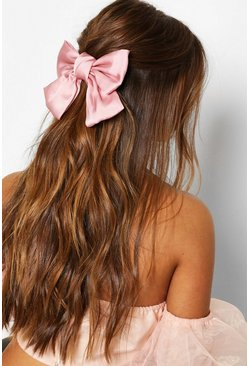 Blush Large Satin Bow