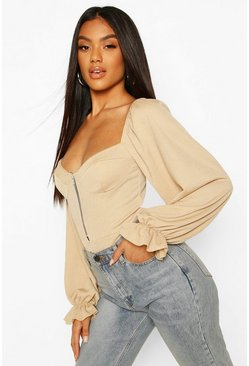 Stone Body i off shoulder-modell med sydda kupor