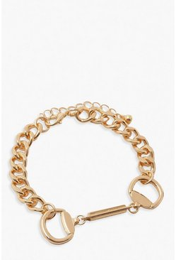 Gold Buckle Detail Bracelet