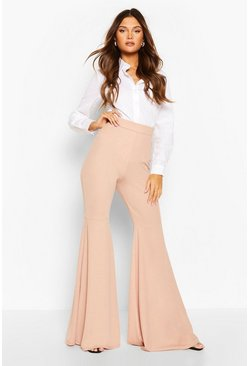Fawn Extreme Flare Jersey Trousers
