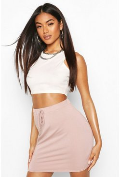 Fawn Basic Loopback Mini Skirt