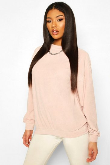 Blush Oversized Premium Velour Sweat