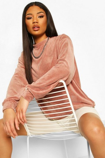 Mauve Oversized Premium Velour Sweat