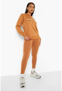 Camel Woman Hoodie And Legging Tracksuit