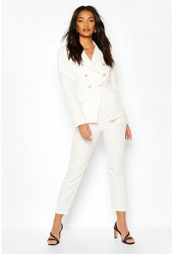White Double Breasted Blazer & Trouser Set