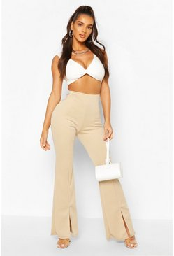 Ivory Double Layer Twist Front Crop Top