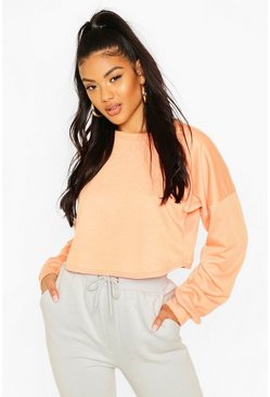Crop Oversized Sweat, Orange