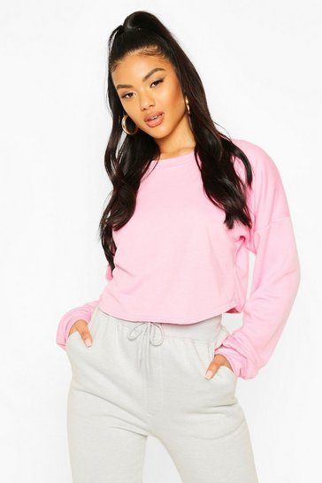 Soft pink Crop Oversized Sweat