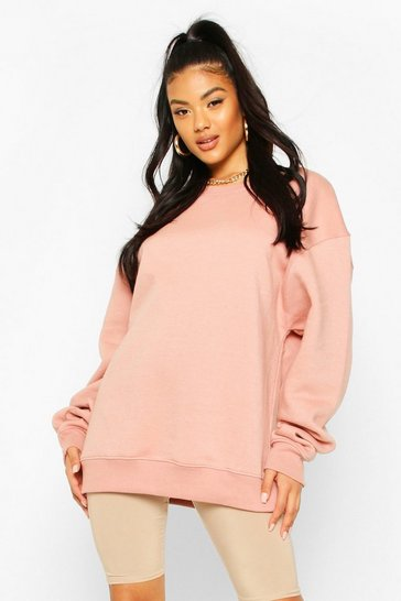 Dusty rose Basic Oversized Sweatshirt