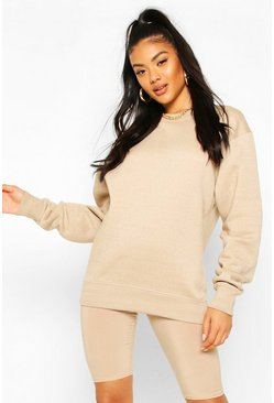 Basic Oversized Sweatshirt, Steingrau