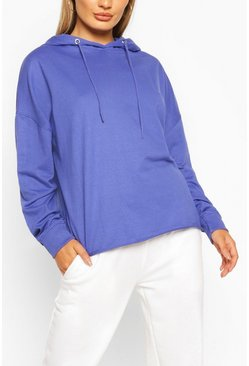 Electric blue Basic Oversized Hoodie